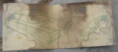 Fisher Body instructions found in headliner. Shows 1960 Impala Sport Sedan