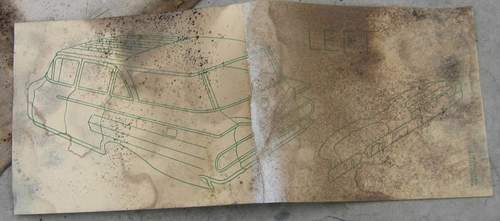 Fisher Body instructions found in headliner. Shows 1960 Chevrolet Station Wagon