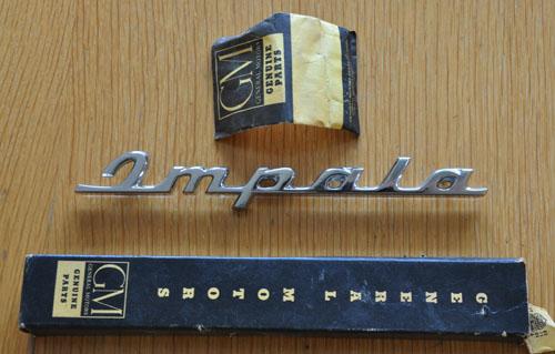 1960 Impala Quarter Panel Flag - NOS