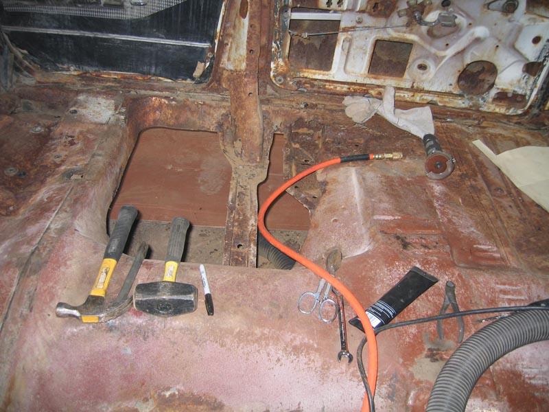 Beginning Rust Repair 1960 Impala Sport Sedan