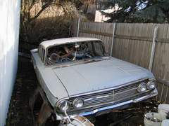 1960 Chevrolet Biscayne 4 door parts car.