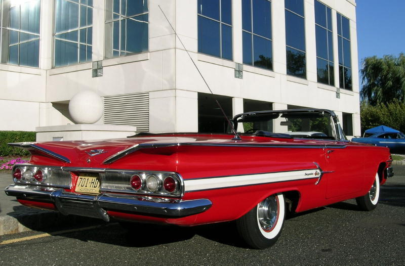 1960 Impala Convertible Red Unrestored 01