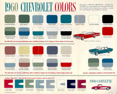 1960 Chevrolet Colors