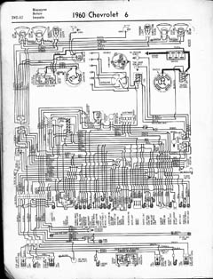 1960 chevrolet wiring diagrams v8 and l6 engines wiring 1960 l6 jpg