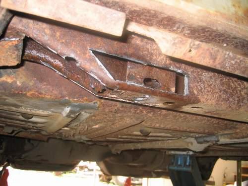 Rear body brace cut open