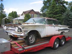 Left front shot of 1960 Impala
