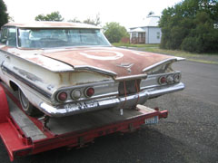 Rear of 60 Impala showing 6 tail lights