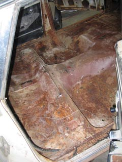 rear floor of 1960 Impala