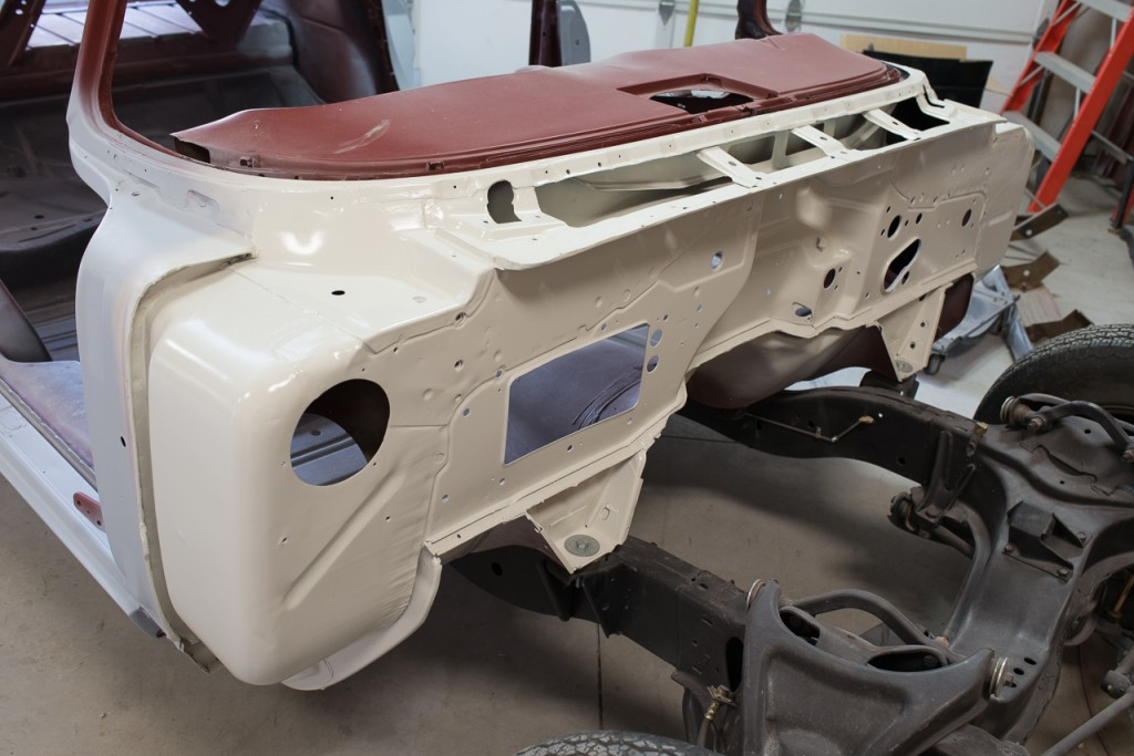 Satin finish visible after the paint has fully cured
